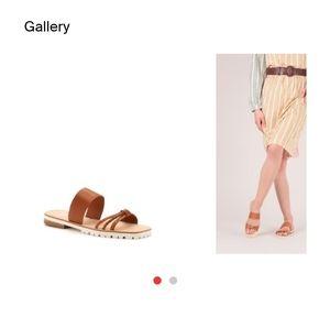 BOTKIER New York 💯%Leather MOIRA cognac sandal 10